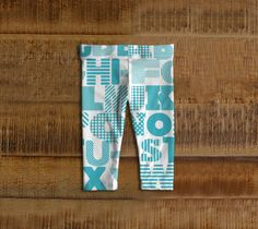 Alphabet // Baby Leggings - Adorable little bottoms that make amazing baby shower gifts! Stylish and comfortable!