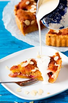 Peach and Almond Tart - so good served warm with a glug of thick cream.