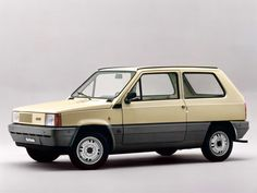 """Fiat Panda (1980) – Introduced in 1980 the Panda was designed as a cheap, basic, no-frills utility vehicle, that would be easy to use and maintain. The first Panda was designed by Giorgetto Giugiaro, who went on record at the time of its launch describing the Panda as """"the most enchanting work of his life"""", while Felice Cornacchia, the chief designer on the project described himself as """"proud overall of the car's architecture"""". #ItalianCar #Hatchback #White #ItalianDesign #Eighties"""