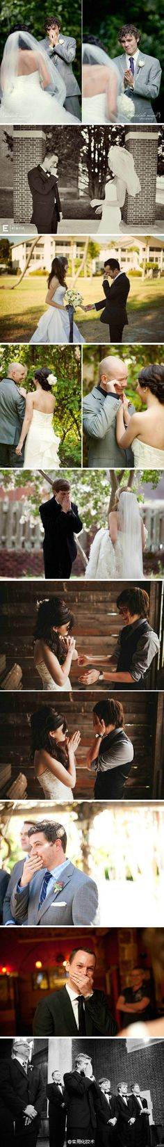 the moment when the groom sees the bride- MUST HAVE PICTURE!!! I will bawl my eyes out if my fiancé cries! :'(