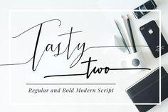 TastyTwo, Modern Script Typeface by mycandythemes on @creativemarket