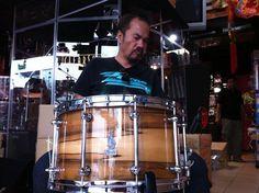 BRADY 14 x 8 Jarrah Ply / Blackheart gloss snare drum at Drumtech Center in Bangkok, Thailand.