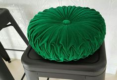 READY TO SEND - One Off - Medium Size Emerald Green Vintage Style Velvet Cushion