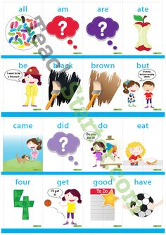 Dolch Sight Word Flashcards with Pictures – Primer (2 pieces) Teaching Resource