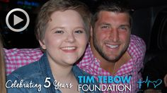 MUST WATCH: In honor of Tim Tebow​'s 28th birthday, we have released an exclusive video celebrating our 5-Year Anniversary, narrated by ESPN's Tom Rinaldi, highlighting some of the amazing moments your support has helped create! Thank you to all of our supporters for helping us bring Faith, Hope and Love to so many throughout the past 5 years!