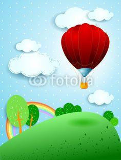 Hot air balloon  #vector #stockimage