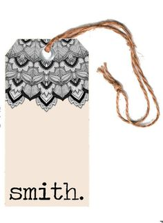 Hang tag design for Smith.