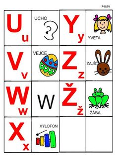 Pro Šíšu: Abeceda - prirazovani obrazku Montessori, Language, Education, Christmas Decor, Detail, Alphabet, Games, Second Grade, Autism