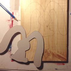 Drawing letter M shape on wood, beginning the work for a wooden letter!
