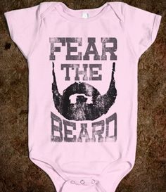 Fear The Beard Retro Baseball Shirt