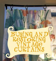 Middle Class Modern: Decorating With Vintage Curtains