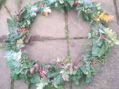 My Christmas Wreath 2013 covered in real frost