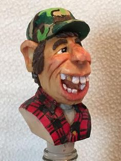 Mr. Buck Hunter...bottle stopper carved by RWK Woodcarving