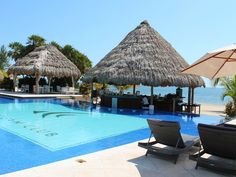 The Pool And Beach Bar At Belizeoceanclub In Maya Placencia Belize Vacationsbeach