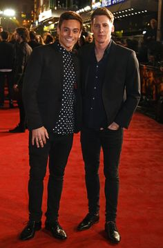 Pin for Later: Jennifer Lawrence Looks Hot Enough to Cause a Rebellion at the Mockingjay Premiere  Pictured: Tom Daley and Dustin Lance Black