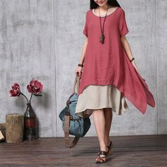 Two Layerd Loose Fitting Long Maxi Dress Summer от deboy2000