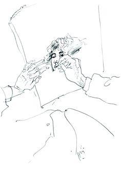 "The exhibition ""Álvaro Siza – Viagem Sem Programa"" arrives in Lisbon Architecture Graphics, Architecture Drawings, Line Drawing, Drawing Sketches, Sketching, Hand Sketch, Personal Photo, Siena, Lisbon"