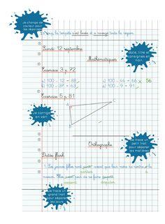 [Modèle] Présentation des cahiers – Cycle 3 | ma classe mon école - cycle 3 - CE2 CM1 CM2 - Orphys