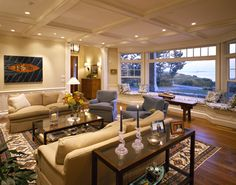 Window Seat... the big picture.  Gorgeous lighting~ beautiful room.  By Whitten Architects
