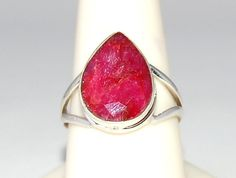 Pink Red Natural Ruby Ring Size 10 by WindstoneDesigns on Etsy, $52.95