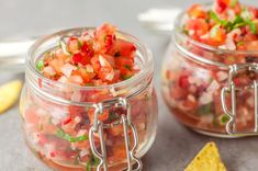 Best Tomato Recipes Skip the Commercial Salsas and Make This Fresh Pico de Gallo - This delicious (and popular!) fresh salsa recipe is made with diced tomatoes, cilantro, garlic, peppers, and a perfect combination of seasonings. Fresh Salsa Recipe, Tomato Salsa Recipe, Fresh Tomato Recipes, Fresh Tomato Salsa, Indian Cucumber Salad, How To Make Salsa, Mexican Food Recipes, Ethnic Recipes, Mexican Menu
