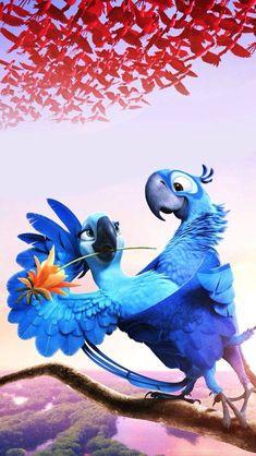 Disney Phone Wallpaper, Cartoon Wallpaper Iphone, Cute Cartoon Wallpapers, Wallpaper Backgrounds, Rio Film, Rio Movie, Kawaii Disney, Disney Collage, Disney Art