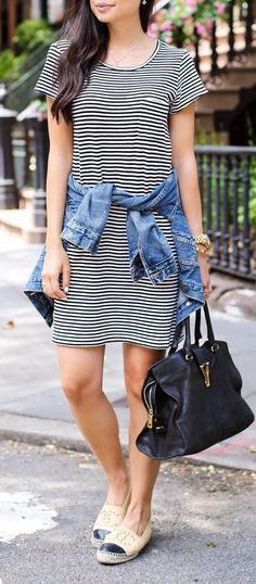 Striped Summer Dress by With Love From Kat