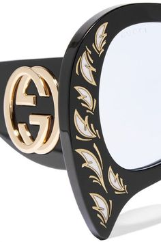 Gucci - Oversized Round-frame Actate Sunglasses - Black - one size