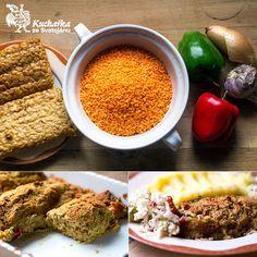 Kuchařka ze Svatojánu: SEKANÁ Z ČERVENÉ ČOČKY A TEMPEHU Tempeh, Chana Masala, Chili, Soup, Vegetarian, Vegan, Vegetables, Ethnic Recipes, Fit