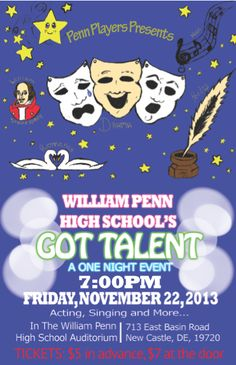 Promo poster for Talent Show on Behance | Poster | Pinterest ...