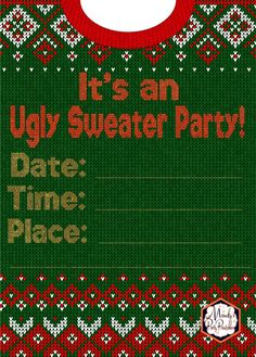 Invitation from Ugly