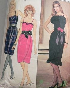 1980s Prom or Party Dress Sewing pattern by retroactivefuture, $7.00