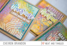 Hi there! It's Cheiron  here and today I'm sharing some fun cards that I created with one of my favorite products, stencils. For the...