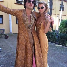 Toby Sebastian and Nell Tiger Free (Trystane and Myrcella) {Photo via Nell's… Boys Fashion Dress, Boy Fashion, Reign Fashion, Got Season 5, Nell Tiger Free, Posh And Becks, Medici Masters Of Florence, Got Costumes, Theatre Costumes