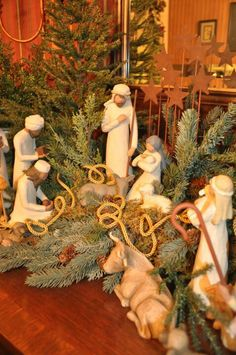 A closeup of the true meaning of Christmas