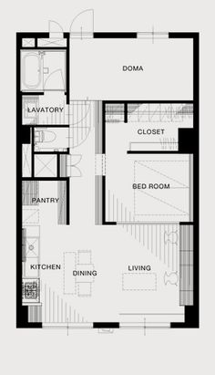リノベーション後 Bed In Closet, Traditional Japanese House, Cozy Room, Small Homes, Kitchen Living, Floor Plans, How To Plan, Architecture, Decoration