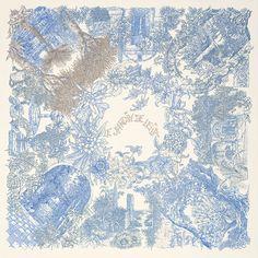 Silk twill scarf LE JARDIN DE LEÏLA #hermes #silk