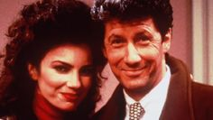 Fran Drescher and Charles Shaughnessy played Fran Fine and Maxwell Sheffield.