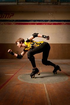 Roller Derby / Roller Skating inspiration for Sk8 Gr8 Designs  Lots of elbow and wrist guards