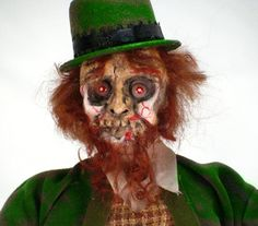 OOAK Handmade Walking Dead St Patrick's Day by cre8orstouch, $45.00
