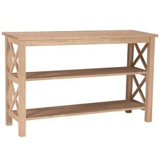 Unfinished Solid Parawood Hampton Sofa/ Console Table - Overstock™ Shopping - Great Deals on Coffee, Sofa & End Tables