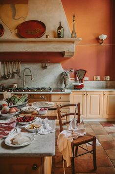 Under The Tuscan Sun - Margo & Me - A Carefully Curated Lucca & Tuscany travel Guide – Villa Controni, one of six properties that is - Italian Cottage, Rustic Italian, Italian Villa, Italian Home Decor, Italian Country Decor, Italian Dining, Under The Tuscan Sun, Lucca, Grand Kitchen