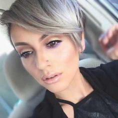 Short Silver Pixie Haircut Trends 2017 / 2018
