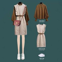 """""""Look how cute these outfits are! Korean Girl Fashion, Korean Fashion Trends, Ulzzang Fashion, Korean Street Fashion, Kpop Fashion Outfits, Korean Casual Outfits, Korean Outfit Street Styles, Modest Outfits, Stylish Outfits"""