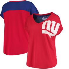 5bb8c0987 New York Giants Touch by Alyssa Milano Women s First Down T-Shirt - Red.  Nfl Sports ...