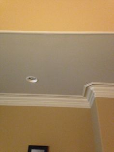 Exaggerated Crown moulding- this is the existing moulding in our master bedroom- all wall corners are rounded.