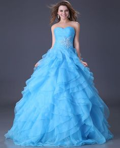 Total cost on this w/shipping totals to $48.98 Luxury New Sexy Organza Formal Prom Party Ball Gown Wedding Long Evening dress