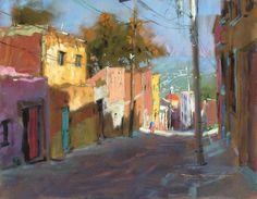 """""""Cuesta de Loreto 1"""" San Miguel de Allende by artist Tom Dickson"""