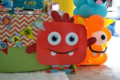 Monster Bash Themed Boys Birthday Party Monster Decoration Ideas