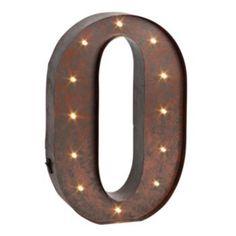 Letter ''O'' LED Lighted Wall Decor